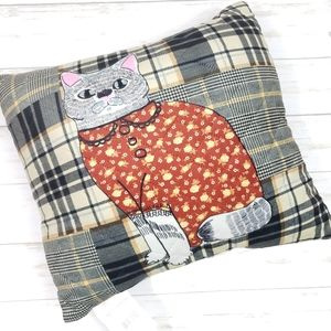 Dressed Up Fancy Cat Accent Throw Pillow